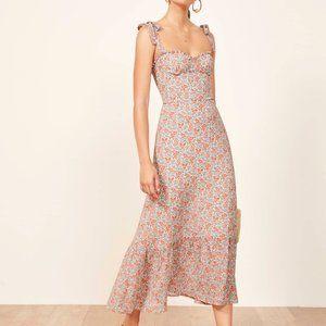 REFORMATION Nikita Long Midi Dress Shelby Floral 2